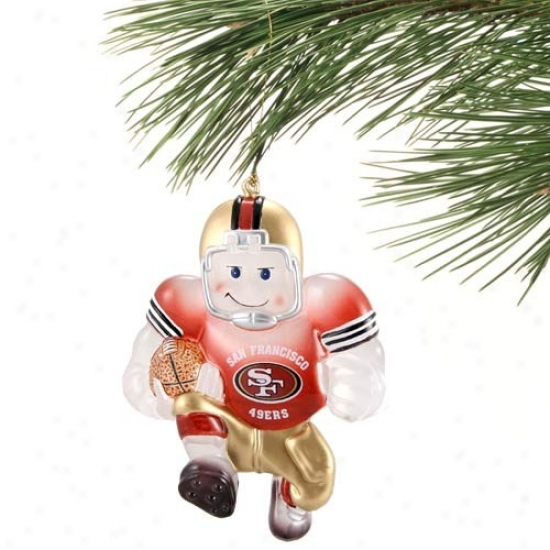 San Francsico 49ers Acrylic Holiday Ornament