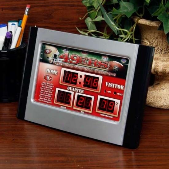 San Francisco 49ers Alarm Svoreboard Clock