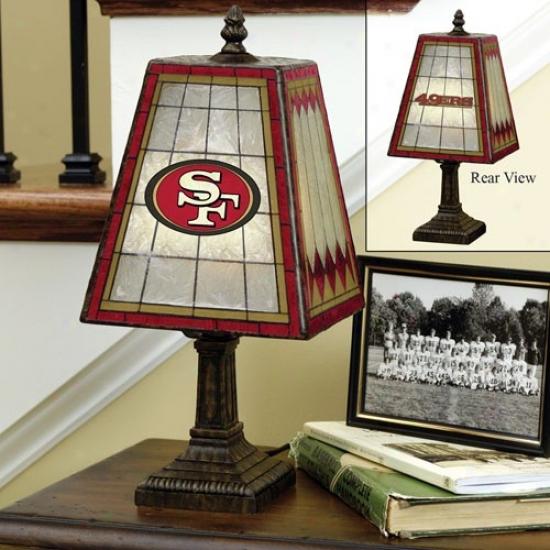 San Francisco 49ers Art-glass Table Lamp