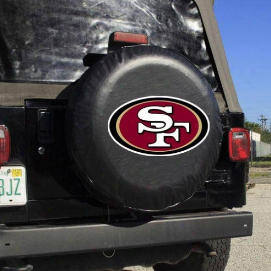San Francisco 49ers Black Logo Tire Cover