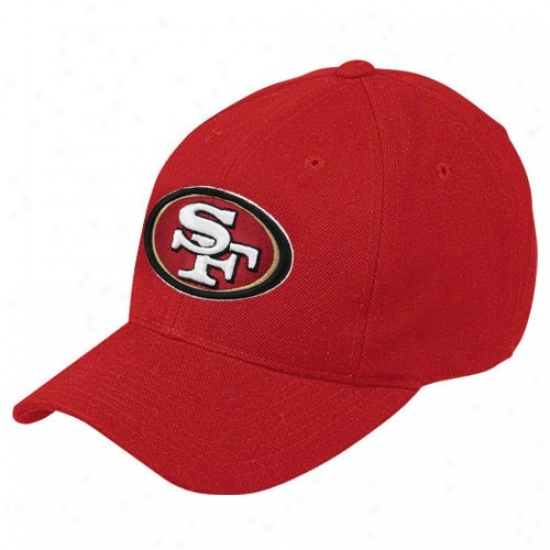 San Francisco 49ers Cap : Reebok San Francisco 49ers Red Basic Logo Adjustable Cap