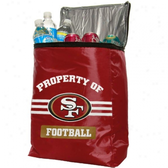 San Francisco 49ers Cardinal Insulated Cooler Backpack