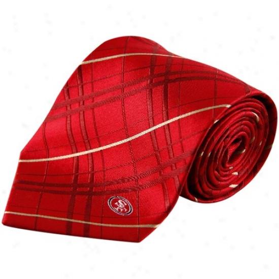 San Francisco 49ers Cardinal Oxford Woven Tie