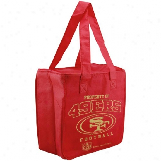 San Francisco 49ers Cardinal  Reusable Insulated Tote Bag