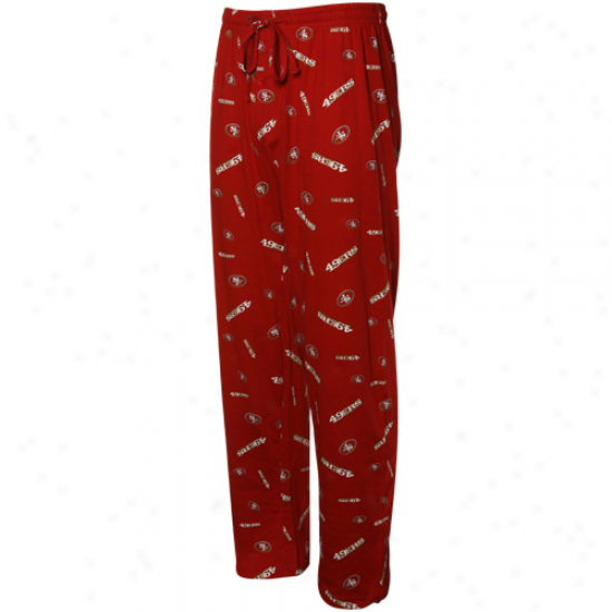 San Francisco 49ers Cardinal Team Faithful Ii Pajama Pants