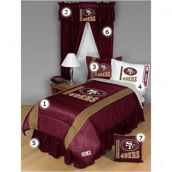 San Francisco 49ers Full Size Sideline Bedroom Set