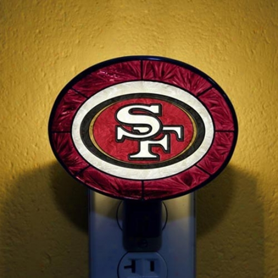 San Francisco 49ers Hand-painted Glass Nightlight