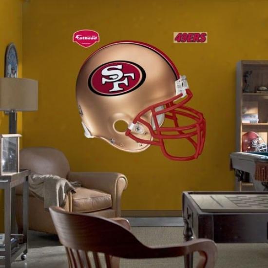 San Francisco 49ers Helmet Fathea dWall Sticker