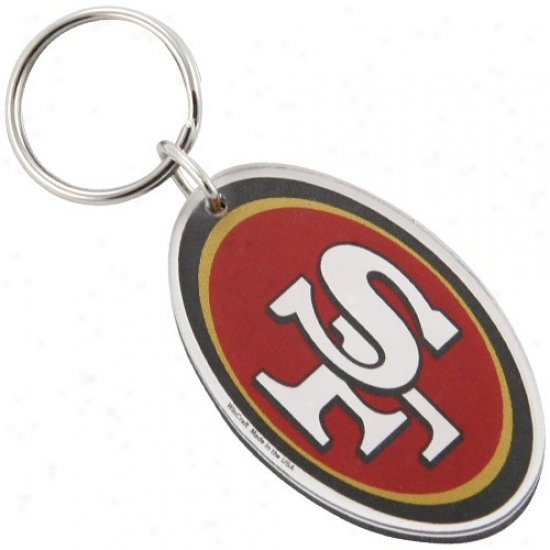 San Francisco 49ers High Definition Logo Keychain