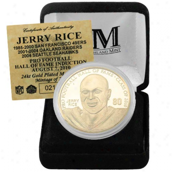 San Francisco 49ers Jerry Rice Commemorative Hall Of Fame Medallion
