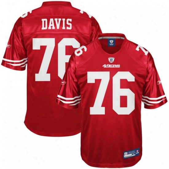 San Francisco 49ers Jersey : Reebok Nfl Equipment San Francisco 49ers #76 Anthony Davis Cardinal Replica Jersey