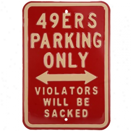 San Francisco 49ers Maroon Parking Sign