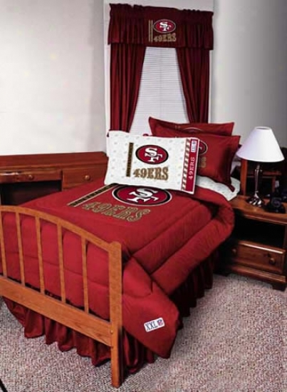 San Francisco 49ers Queen Size Bed Skirt
