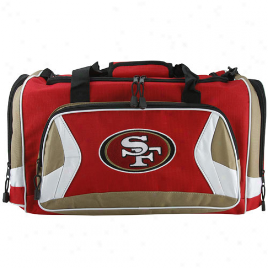 San Francisco 49ers Scarlet Fly-by Duffel Bag
