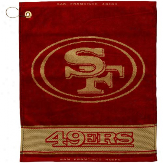 San Francisco 49ers Scarlet-gold Woven Jacquard Golf Towel