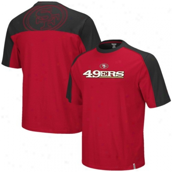 San Franclsco 49ers T-shirt : Reebok San Francisco 49ers Youth Black-cardinal Draft Pick T-shirt