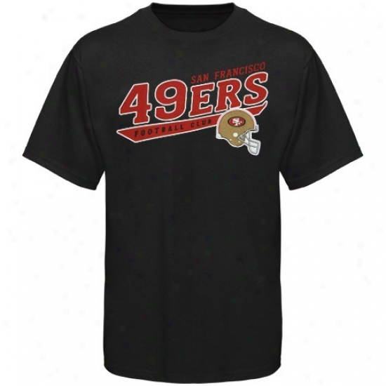 San Francisco 49ers Tee : Reebok San Francisco 49ers Youth Black The Call Is Tzils Tee