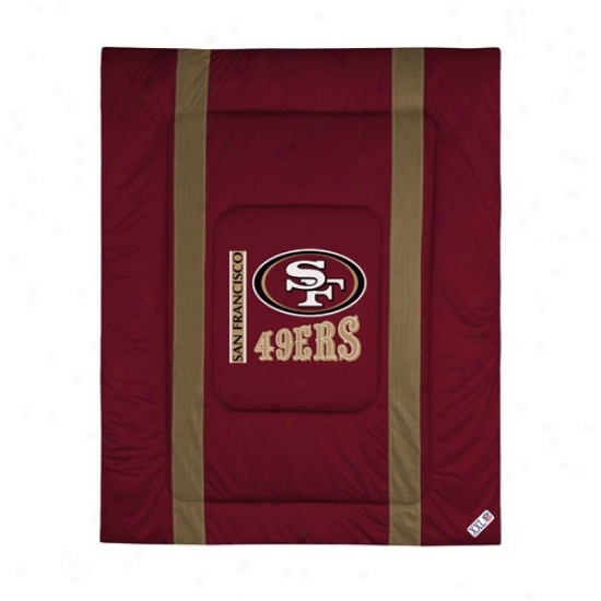 San Francisco 49ers Twin Size Sideline Stuffed coverlet