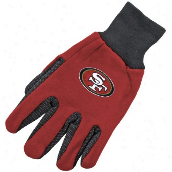 San Francisco 49ers Two-tone Utility Gloves