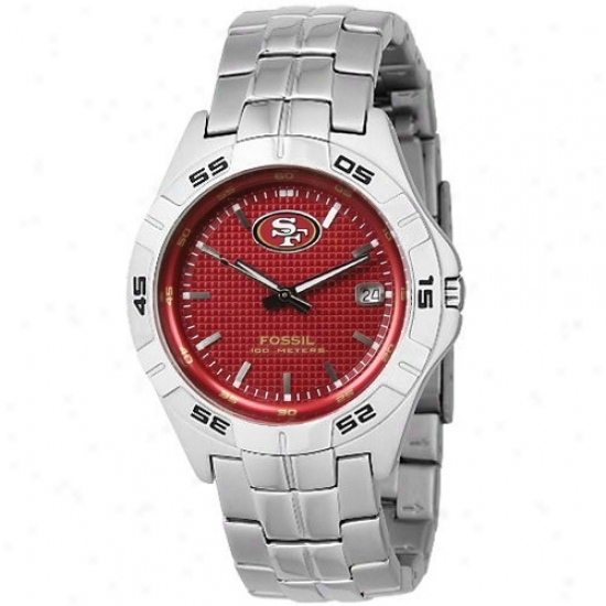 San Francisco 49res Watches : Fossil San Francisco 49ers Men's Stainless Steeo Analog 3 Hand Begin Watchex