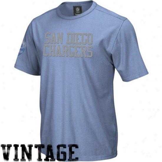 Sandiego Charger Dress: Reebok Sandiego Charger Light Blue Vintage Applique Premium T-shirt