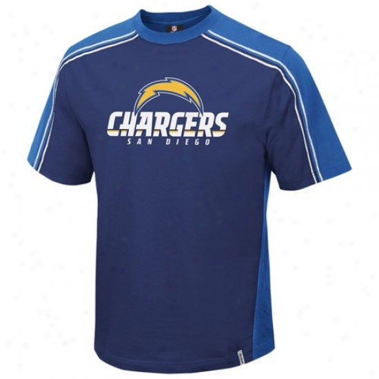 Sandiego Charger Apparel: Reebok Sandiego Charger Navy Blue Upgrade T-shirt
