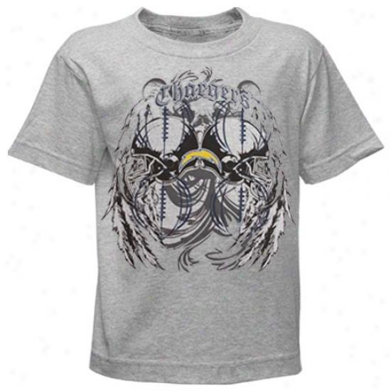 Sandiego Charger Attire: Reebok Sandiego Charger Boy Ash Blitz Beast T-shirt