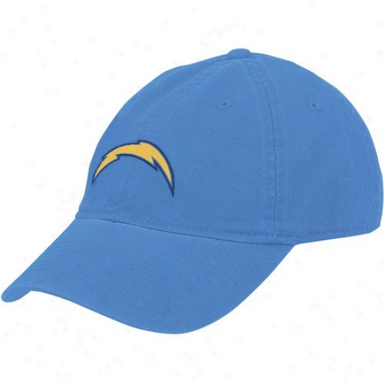 Sandiego Charger Cap : Reebok Sandiego Dish Ladies Light Blue Basic Slouch Adjustable Cap
