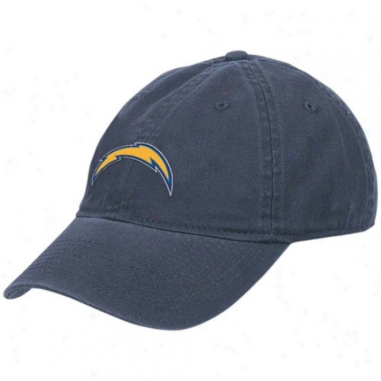Sandiego Charger Gear: Reebok Sandiego Charger Navy Blue Laries Basic Logo Hat
