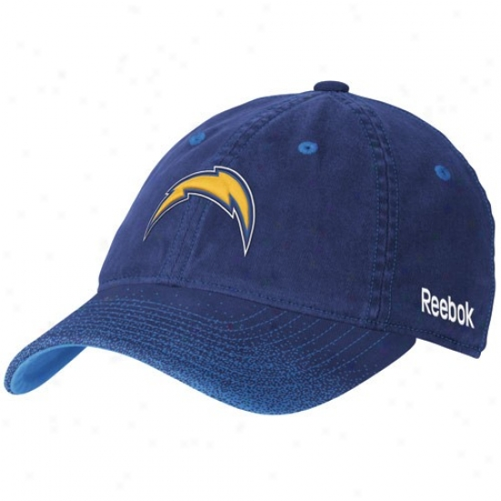 Sandiego Charger Hat : Reebok Sandiego Charger Ladies Navy Azure 2nd Season Fadeout Flex Fit Hat