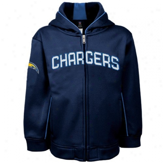 San Diego Chargers Hoodies: Da Bears Sweat Shirts : Reebok Da Bears Youth Navy Blue