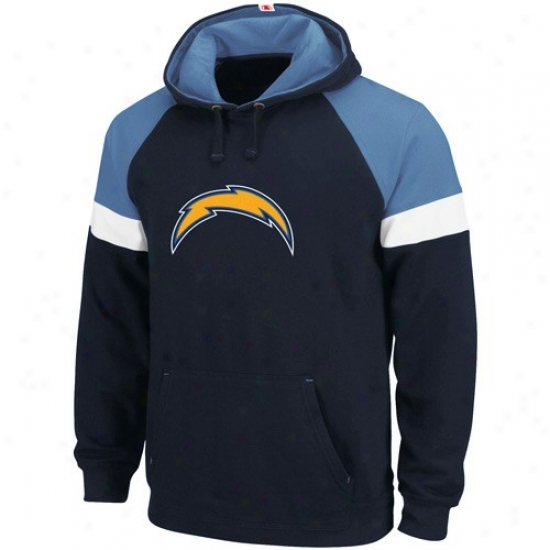 Sandieog Dish Hoodies : Sandiego Charger Navy Blue Passing Game Hoodies