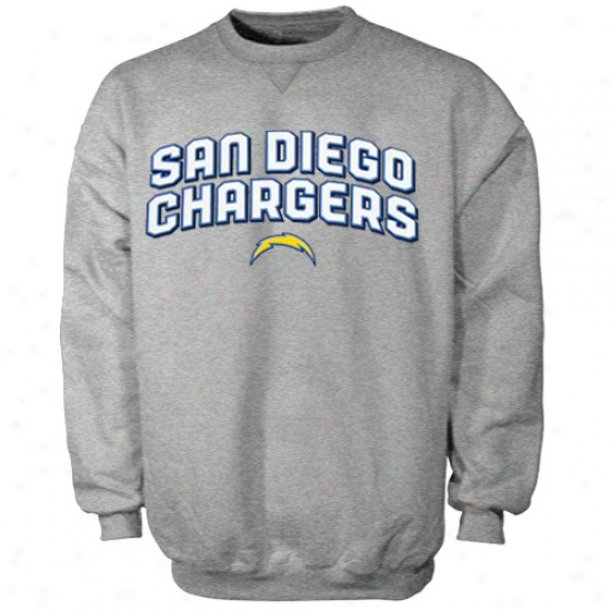 Sandiego Charger Hoody : Reebok Sandiego Charger Ash Double Arch Crew Hoosy