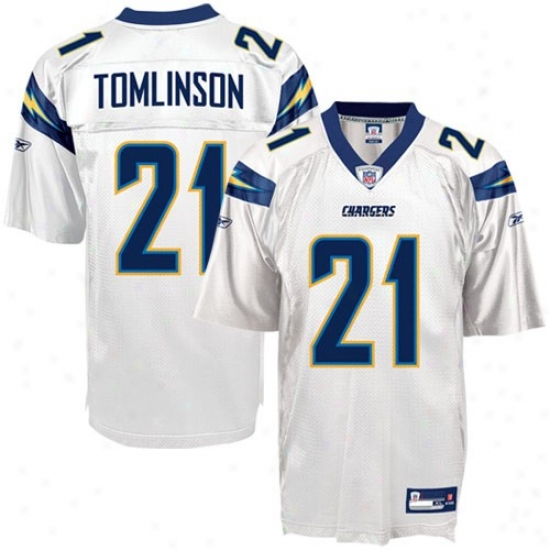 Sandiego Charger Jersey : Reebok Nfl Equipment Sandiego Charger #21 Ladainian Tomlinson Juvenility White Replica Football Jersey
