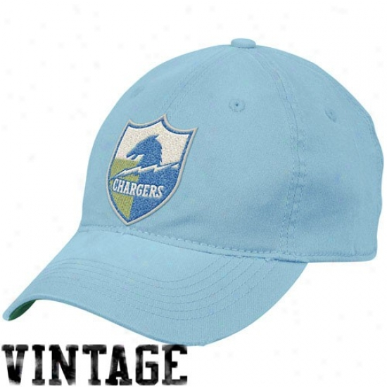 Sandiego Charger Merchandise: Reebok Sandiego Charger Light Blue Distressed Slouch Flex Fit Hat