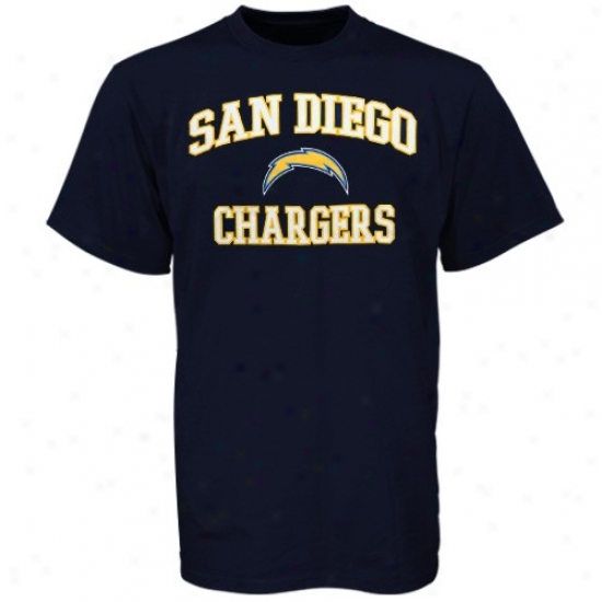 Sandiego Charger Shirts : Sndiego Charger Navy Blue Heart & Soul Shirts