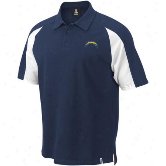 Sandiego Chargers Golf Shirt : Reebok Sandiego Chargers Navy Blue Stealth Pique Golf Shirt
