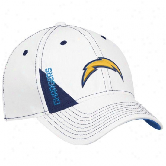 Sandiego Chargers Hat : Reebok Sandiego Chargers Youth White Official 2010 Draft Appointed time Flex Fit Hat