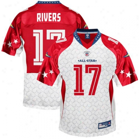Sandiebo Chargers Jersey : Reebok Nfl Equipment White-red #17 Phillip Rivers 2010 Pro Bowl Afc Replica Jersey