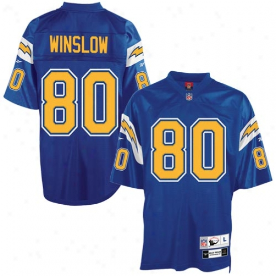 Sandiego Chargers Jerseys : Reebok Nfl Equipment Sandiego Chargers #80 Kellen Winslow Electric Blue Tackle Twill Throwback Football Jerseys