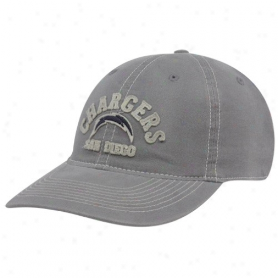 Sandiego Cbargers Merchandise: Reebok Sandiego Chargers Gray-haired Sandblasted Retro Slouch Flex Fit Hat