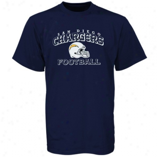 Sandiego Chargers T Shirt : Reebok Sandiego Chargers Preschool Navy Blue Stacked Helmet T Syirt