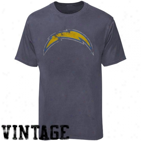 Sandiego Chargers T Shirt : Sandiego Chargers Heather Blue First Rounder Vintage T Shirt