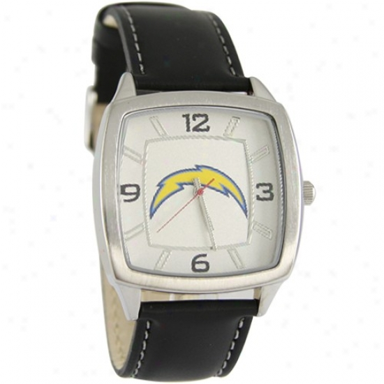 Sandiego Chargers Watches : Sandiego Chargers Retro Watches W/ Leather Band