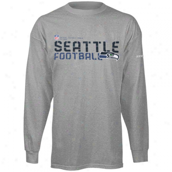 Seahawk Attire: Reebok Sehawk Youth Ash Sideline Statement Long Sleeve T-shirt