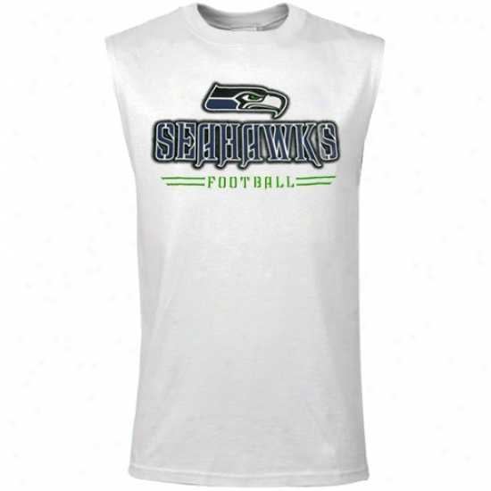 Seahawk Tee : Reebok Seahawk White Youth Rough Gloss Mucle Tee