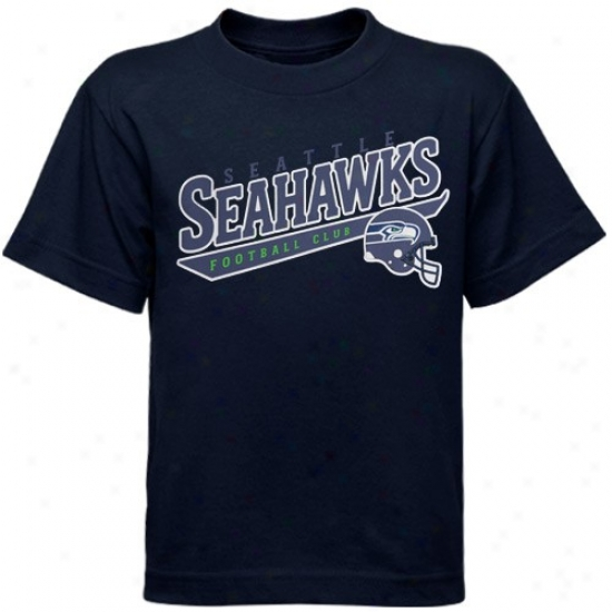 Seahawk Tshirt : Reebok Seahawk Preschkol Navy Blue The Call Is Tails Tshirt