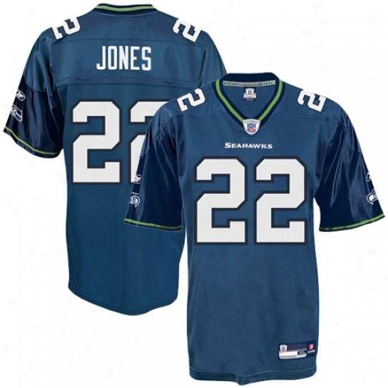 Seahawks Jerseys  :Reebok Nfl Equipment Seahawks #22 Julius Jones Pacific Blue R3plica Jerseys