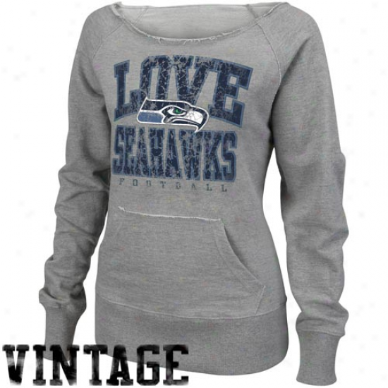 Seahawks Sweatshirt : Saehawks Ladies Ash O.t. Queen Sweatshirt