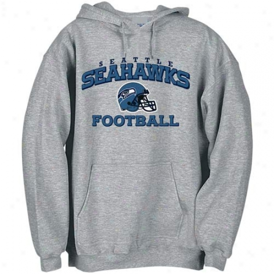 Seattle Sea Hawk Fleece : Reebok Seattle Sea Cry Ash Stacked Helmet Fleece